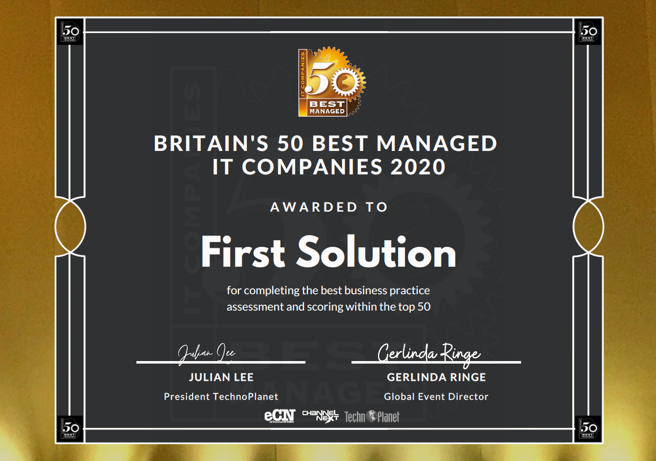 First Solution named among top 50 MSPs for third year running
